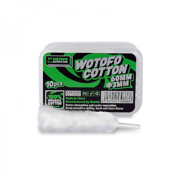 Cotton 3mm agleted Wotofo